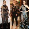 Beyoncé, Marina Ruy Barbosa e Rachel McAdams ousaram com looks transparentes que deixam dúvida sobre o uso de lingerie. Confira essas e outras famosas que aderiram à moda na galeria!
