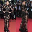 Kendall Jenner usou um naked dress assinado por Roberto Cavalli na festa da 'Vanity Fair' durante o Festival de Cannes, em maio de 2016