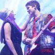 Larissa Manoela e João Guilherme mostraram sintonia no palco do show 'Cúmplices de um Resgate'