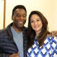 Pelé é casado com Márcia Cibele Aoki, sua terceira mulher