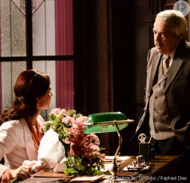 Laura (Marjorie Estiano) se torna vítima de assédio sexual por ser divorciada em 'Lado a Lado', em 7 de janeiro de 2013