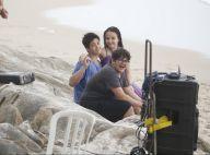Larissa Manoela e o namorado, João Guilherme, filmam em praia do Rio. Fotos!
