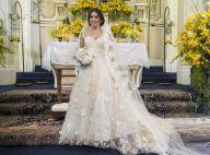 Vestido de noiva de Shirlei na novela 'Haja Coração' é avaliado em R$ 15 mil