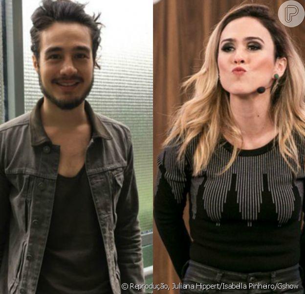 Apontado como affair de Tatá Werneck, Tiago Iorc disse que trocaria nudes com a atriz no programa 'Luciana By Night' desta terça-feira, 8 de novembro de 2016