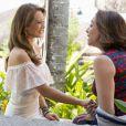 Francesca (Marisa Orth) levou Tancinha (Mariana Ximenes) para espairecer em sua casa de praia, no último capítulo da novela 'Haja Coração'