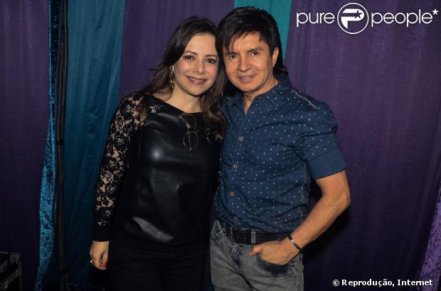 O cantor Xororó e a mulher Noemi não veem a hora de o primeiro neo, filho de Sandy e Lucas Lima