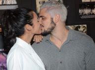 Yanna Lavigne, grávida de Bruno Gissoni, beija o ator em estreia de peça. Fotos!