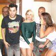 Antonia Fontenelle e Emerson Sheik foram fotografados juntos em um evento na Bahia