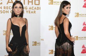 Paula Fernandes deixa short à mostra em look luxuoso em evento nos EUA