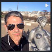 William Bonner em vídeo correndo em Paris: 'O tio já correu por lugares piores'