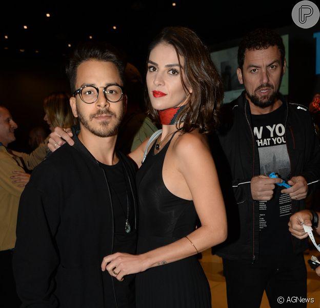 Junior Limae a mulher, Monica Benini, curtiram o show de Grace Jones em São Paulo