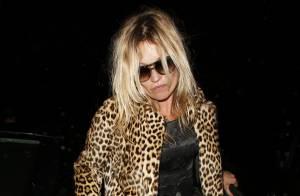 Kate Moss deixa restaurante visivelmente alterada após comemorar seus 40 anos