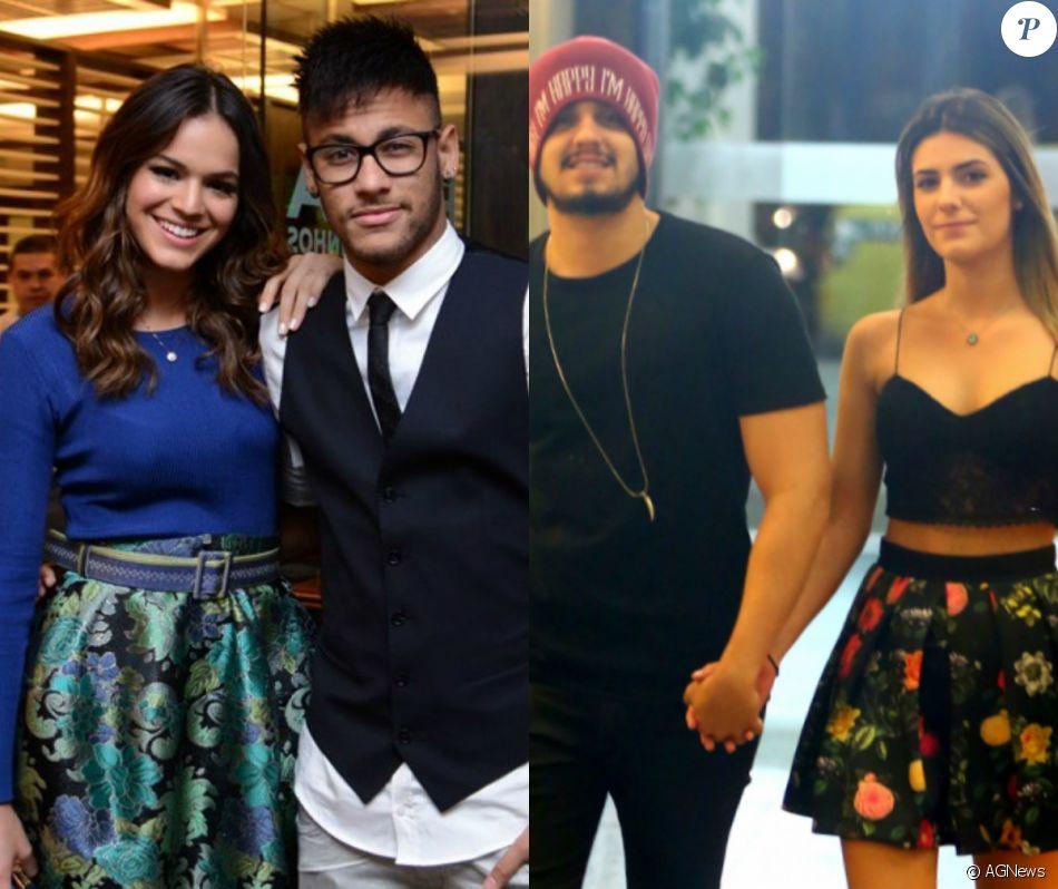 7b18094b029 Fãs de  Brumar  (Bruna Marquezine e Neymar) compararam o casal  Luade   (Luan Santana e Jade Magalhães) nesta quarta-feira