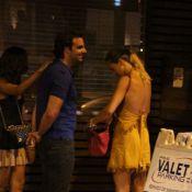 Letícia Birkheuer sai para jantar com o ex-marido, Alexandre Furmanovich, no Rio