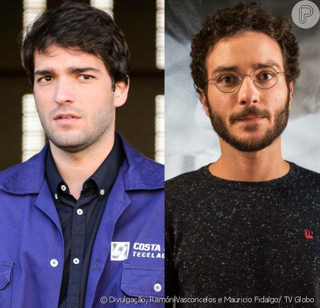 Tiago (Humberto Carrão) briga com Élio (João Campos) em sua festa de casamento por causa de Isabela (Alice Wegmann), na novela 'A Lei do Amor'
