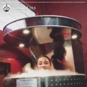 Demi Lovato brinca com Guilherme Bomba em sessão de crioterapia: 'Frio'. Vídeo!