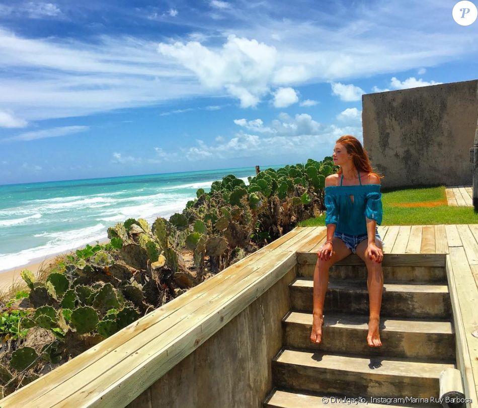 Marina Ruy Barbosa emenda viagem pelo Nordeste e viaja para Alagoas nesta quarta-feira, dia 04 de janeiro de 2017