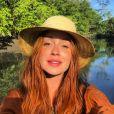 Marina Ruy Barbosa arrancou elogios ao publicar uma selfie de seu rosto iluminado