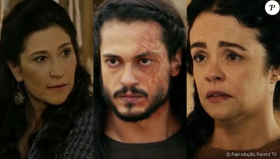 Léia (Beth Goulart) impede o filho, Tobias (Raphael Vianna), de matar Yana (Luciana Braga), nos próximos capítulos da novela 'A Terra Prometida'
