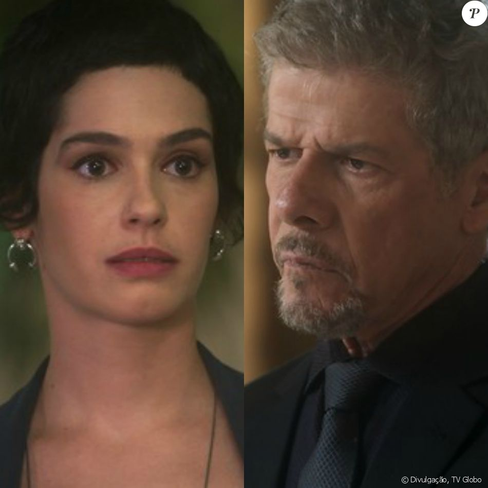 Flávia (Maria Flor) descobre ser filha de Tião (José Mayer) e vai até a casa do vilão para lhe contar a verdade, no capítulo desta quarta-feira, dia 11 de janeiro de 2017, na novela 'A Lei do Amor'