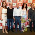 Letícia Colin posa ao lado do elenco do filme 'Os Saltimbancos Trapalhões', no Kinoplex Itaim, no Itaim Bibi, em São Paulo, na manhã deste sábado, 7 de janeiro de 2016