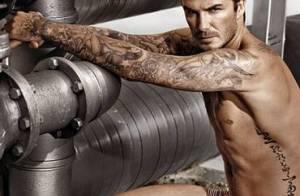 David Beckham exibe corpo sarado em campanha de roupas íntimas para a H&M