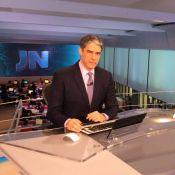 William Bonner volta ao 'Jornal Nacional' após acidente do filho: 'Bem-vindo!'
