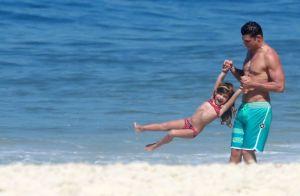 Cauã Reymond mata saudade da filha após viagem com namorada: 'Ficou com Grazi'