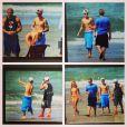 Justin Bieber espairece no Panamá após prisão nos Estados Unidos. O cantor está acompanhado da modelo Chantel Jeffries no luxuoso Hotel Nitro City, na praia de Punta Chame