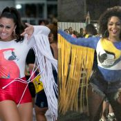 Viviane Araújo e Juliana Alves apostam em looks parecidos em ensaios de Carnaval