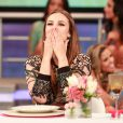 Paolla Oliveira, a Paloma de 'Amor à Vida' comemora personagem e se despede de trama de Wlacyr Carrasco em programa do Faustão exibido neste domingo, 26 de janeiro de 2014