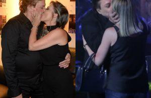 Fábio Jr. enche a mulher de beijos após dar selinho em fã durante show. Fotos!