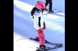 Vídeo: Carol Celico mostra filhos esquiando em viagem à França com o namorado