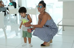 Juliana Paes se diverte com os filhos, Pedro e Antonio, em dia de folga. Fotos!