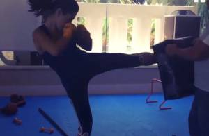 Giovanna Lancellotti posta vídeo dando chutes e socos em 1ª aula de muay thai