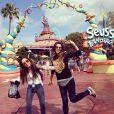 Tatá Werneck e a amiga Rafaella Cardoso curtem férias em Orlando, nos Estados Unidos