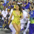 Rainha de bateria da Unidos da Tijuca, a atriz Juliana Alves brilhou no ensaio técnico da agremiação, em 12 de fevereiro de 2017