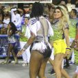 Ludmilla, que vai interpretar Beyoncé na Avenida, mostrou-se animada durante  ensaio da Unidos da Tijuca, na Sapucaí, em 12 de fevereiro de 2017