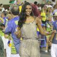 Aline Dias, protagonista de 'Malhação', será destaque da Unidos da Tijuca no Carnaval 2017 e prestigiou o ensaio técnico da escola, em 12 de fevereiro, com look comportado