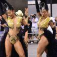 Sabrina Sato ousou na fantasia para o ensaio técnico da Gaviões da Fiel neste sábado, 12 de fevereiro de 2017, no , em São Paulo. Madrinha de bateria da escola, a apresentadora apostou em um body supercavado e com transparências, de Walério Araújo