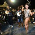 Ana Paula Minerato, beldade da Gaviões da Fiel, mostrou boa forma no ensaio técnico da escola
