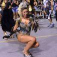 Tati Minerato é rainha de bateria da Gaviões da Fiel e mostrou samba no pé durante ensaio técnico da agremiação no Anhembi, em São Paulo, na noite deste sábado, 11 de fevereiro de 2017