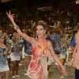 Naglia Coelho mostrou seu samba ao ensaiar com a Acadêmicos de Tatuapé, em São Paulo