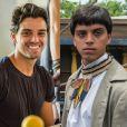 Rodrigo Simas adotou uma franjinha para viver o índio Piatã, que nasceu no Brasil e cresceu na Europa