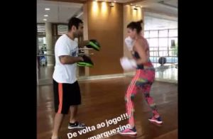 Bruna Marquezine volta ao Brasil e vai à academia após dias com Neymar. Vídeo!