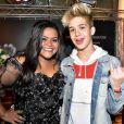 João Guilherme prestigiou o aniversário de 22 anos da Youtuber Camila Loures, nesta terça-feira, 14 de fevereiro de 2017