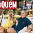 Roberto Justus e Ana Paula Siebert são a capa da revista 'Quem' desta semana e falaram sobre seu namoro