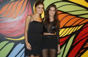 Thaila Ayala e Sophie Charlotte abusam das franjas e curtem pré-carnaval no Rio