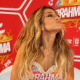 Sabrina Sato fala sobre ser musa na coletiva de imprensa do camarote da Brahma no Carnaval 2014, realizada no Maracanã, Zona Norte do Rio de Janeiro, nesta terça-feira, 18 de fevereiro de 2014
