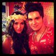 Luan Santana tietou Megan Fox no Camarote Brahma